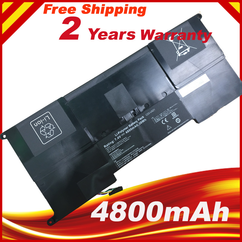 4800mAh 7.4V C23-UX21 C23UX21 Laptop Battery For Asus Zenbook UX21 UX21A UX21E Ultrabook Series