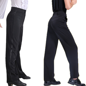 Image 3 - שחור לטיני מודרני אולם נשפים ביצועים מכנסיים בני גברים לטיני ריקוד מכנסיים