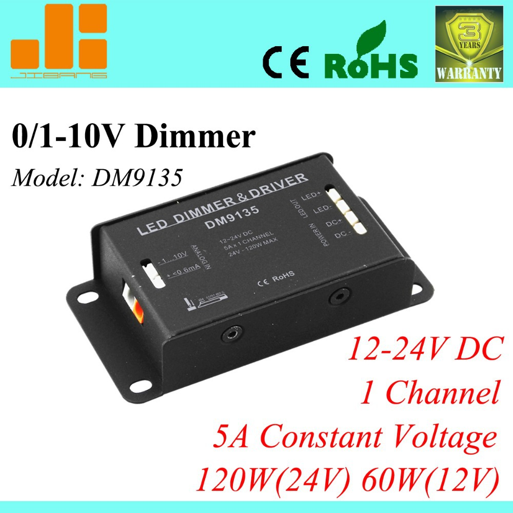 Free Shipping ECO dimmer switch, 0 10V dimming led driver, 0/1 10V LED  Driver, 1channel 12V/24V_5A_120W DM9135-in Dimmers from Lights & Lighting  on ...