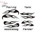 Flame Decals Fuel Tank Sticker Fairing Stickers Saddlebag Decal For Harley Electra Glide Street Glide Ultra Classic Trike