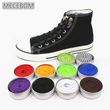Купить с кэшбэком New Funny Lazy No Tie ShoeLaces Quick and easy Sneaker elastic Shoelaces men shoes One-handed shoelaces 14 color Available xd149