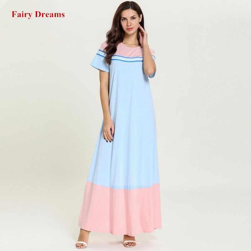 3c1a76af12df6 Muslim Dress Light Blue Abaya Moroccan For Women Plus Size Islamic ...