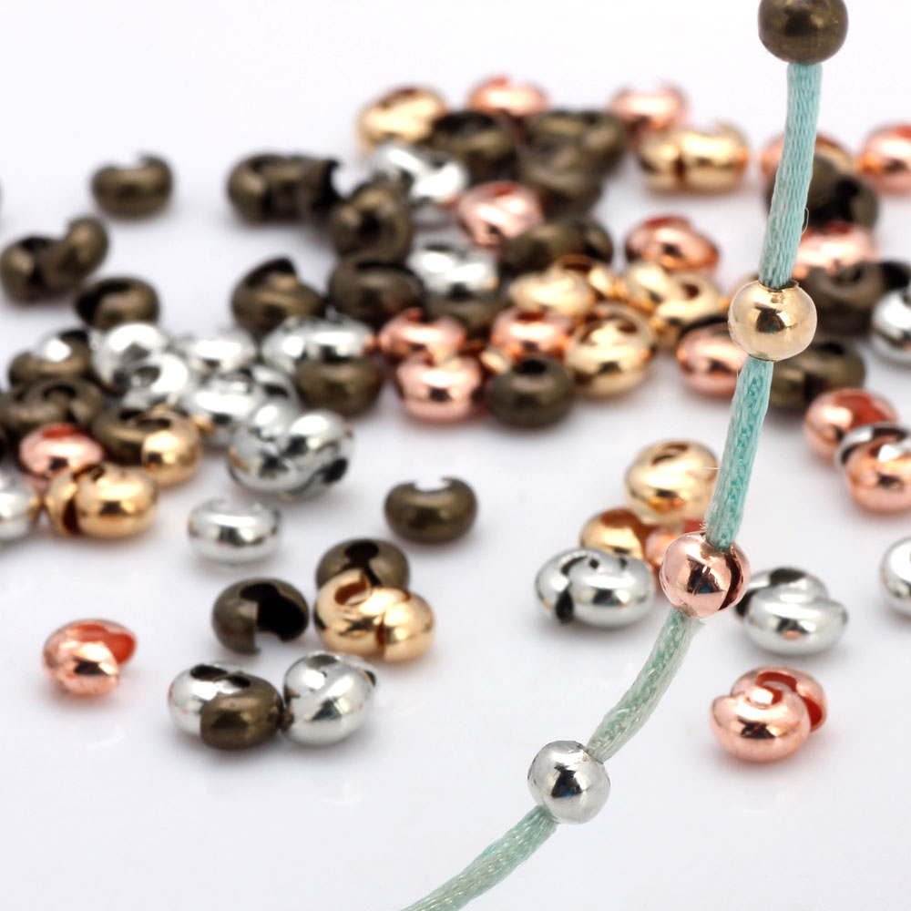 Rose Gold Plated Jewellery Findings Crimps /& Covers