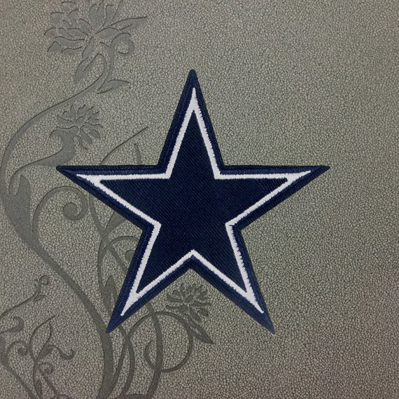 887be450661 The Dallas Cowboys STAR team logo Punk Back biker Embroidered Movie iron on  Patch sew on Patches iron on appliques