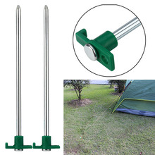 2017 2pcs Luminous Tent Nail Glow Tent Pegs Camping Hiking Luminous Tent Nail Stakes  Safety & Survival Z922