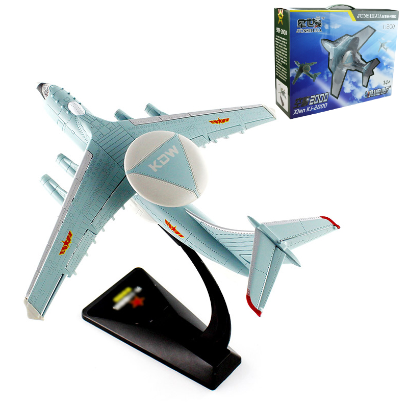 Alloy air police 2000 early warning aircraft model military series KJ-2000 Christmas New Year gift Collection of ornaments