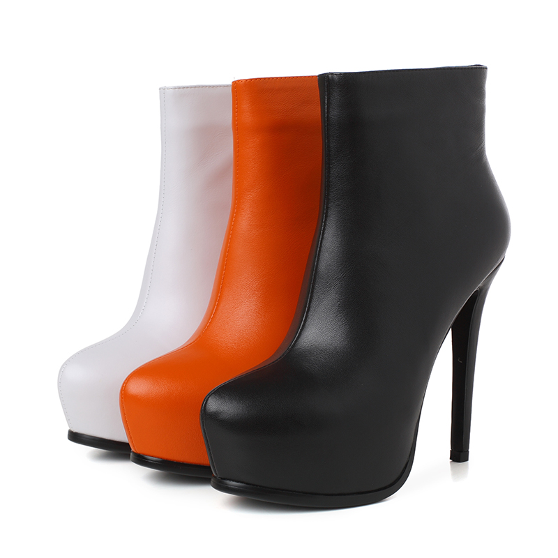 5 Taille Élégant ef1572 Hauts forme Femmes Blanc Hiver 3 ef1572 Femme Ef1572 9 Noir Talons L'intention Orange Plate Initiale Super Cheville Chaussures White Orange Black Bottes Us gxqpaRpE