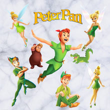 England fairytale wall decals Peter Pan 3d vinyl stickers kids room nursery decoration children puzzle cartoon wallpaper 60*30cm(China)