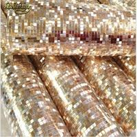 Papel De Parede Luxury Glitter Mosaic Wallpaper Background Wall Wallpaper Gold Foil Wallpaper Silver Ceiling Wallcovering