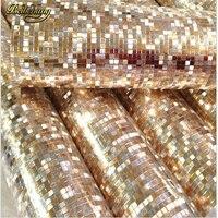 beibehang papel de parede. Luxury glitter mosaic wallpaper background wall gold foil wallpaper silver ceiling wallcovering