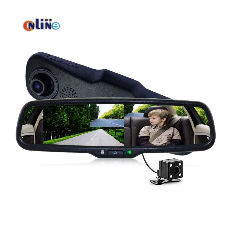 Full HD 1080P 170 Degree HD 854*480 5.0 Inch TFT LCD Screen Car DVR Video Recorder Parking Rear View Rearview Mirror Monitor