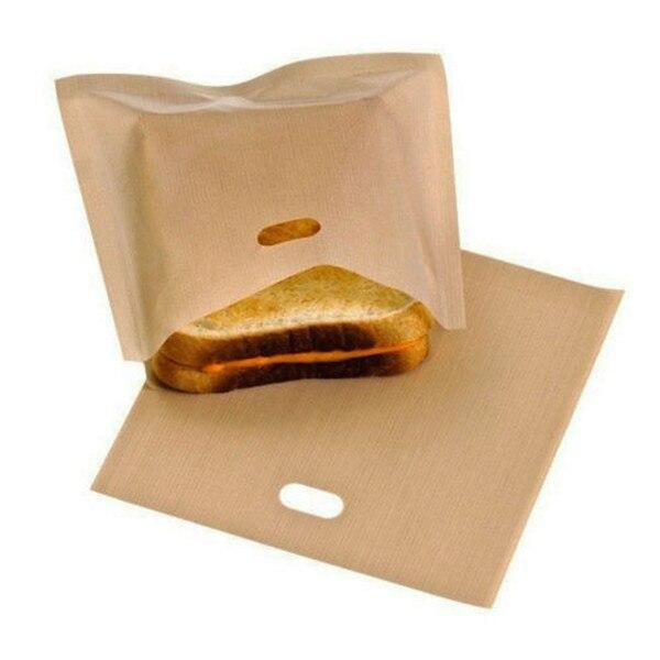 10//5Pcs Reusable Non Stick Toaster Bag Toastie Sandwich Bread Toast Pocket Cases