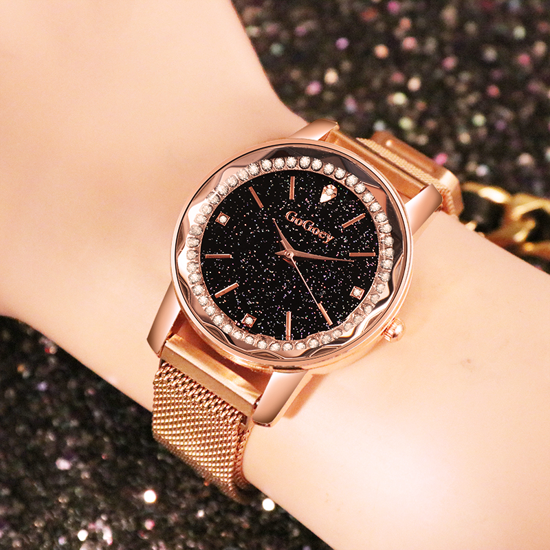 Mesh Magnetic Watches Women 2019 New Fashion Ladies Starry Sky Wristwatch Luxury Rose Gold Female Quartz Clock Relogio Feminino