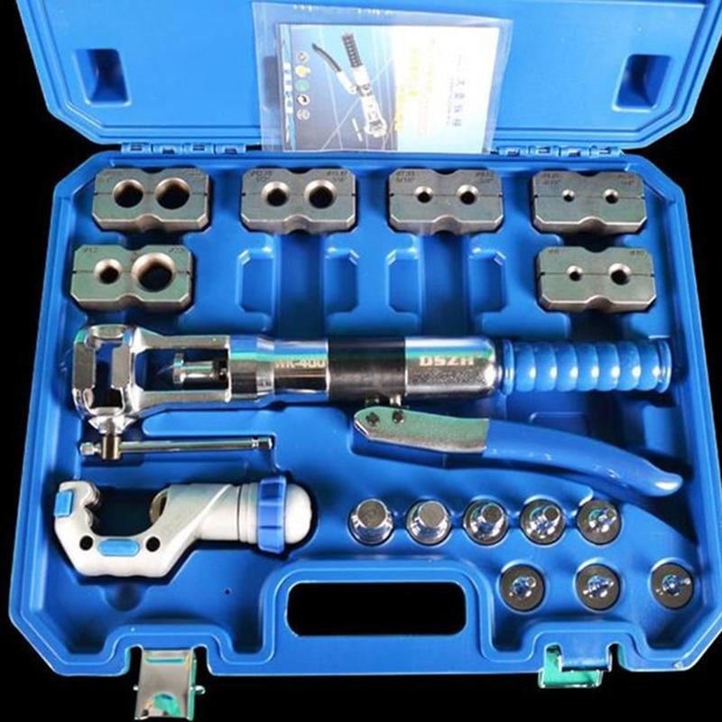 Refrigerant Tool Hydraulic Tube Expander & Flaring Tool Tube Expanding Tool Copper Tube Pipe Expander Tool Kit WK-400