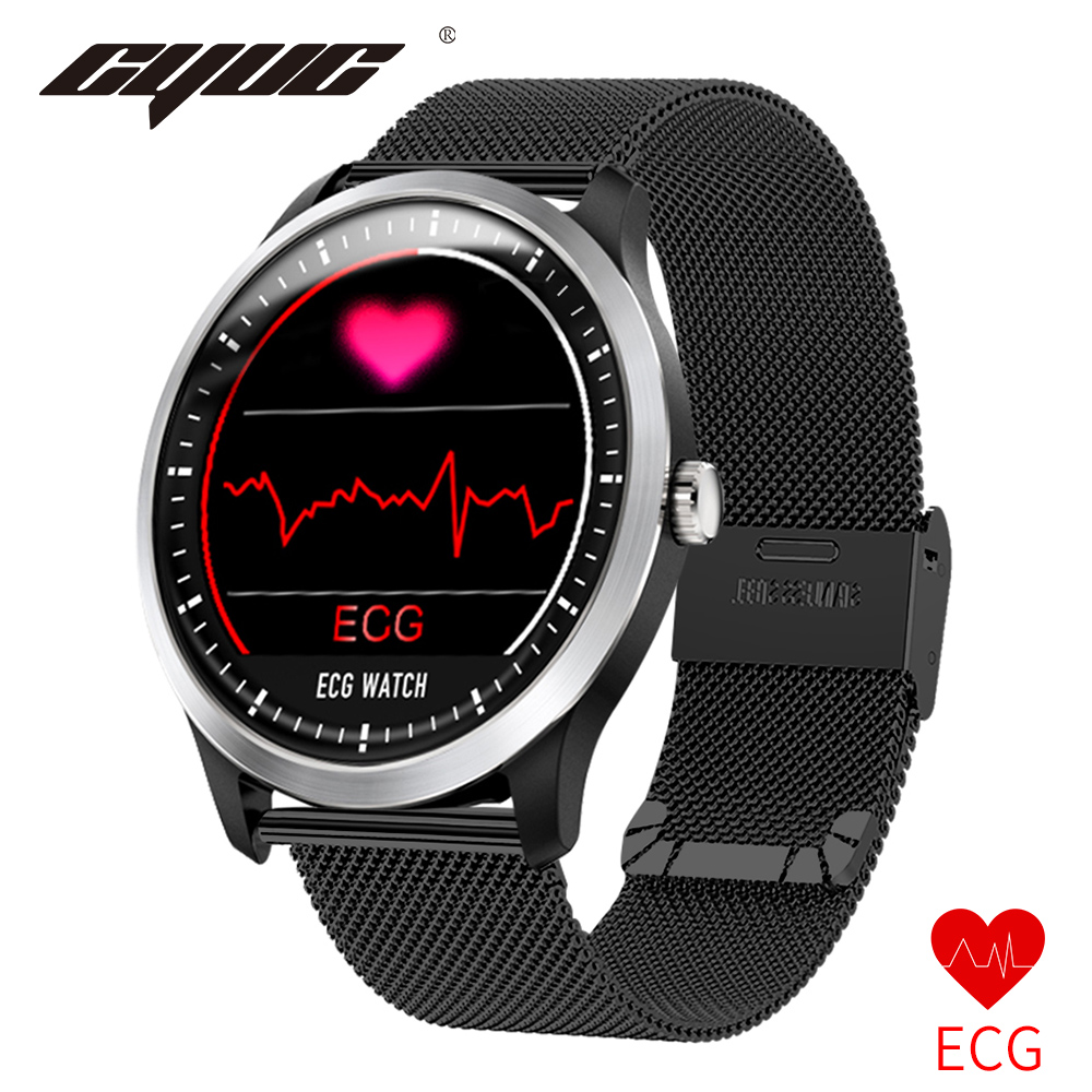 CYUC N58 ECG PPG Smart Watch with Electrocardiograph Ecg Display Holter Ecg Heart Rate Monitor Blood Pressure Smartwatch smartfit 3.0 activity tracker