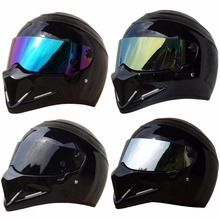Triclicks Motorcycle Matt Glossy Black Helmets Full Face Street Bandit Racing Motocross Protector Full Face Helmet S M L XL XXL s m l xl xxl xxxl jk006 motorcycle full body protect jacket motocross racing protector clothing armour web materials breathable