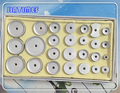 Новинка  26 шт.  алюминиевый корпус  чехол с кристаллами  набор инструментов для прессованных часов  подходящий размер от 12 мм до 50 мм  для ремо...