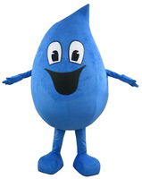 Adult Water Drop Mascot Costume Free Shipping for Halloween party costumes