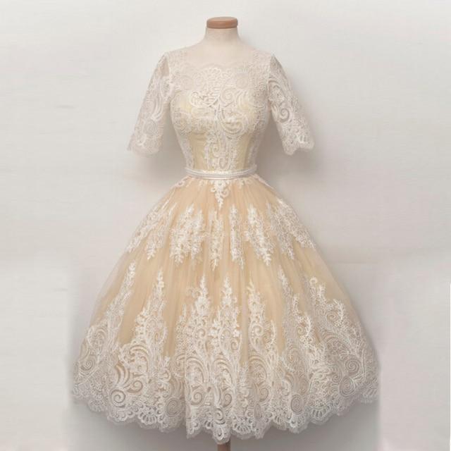 1950 Lace Vintage Prom Dresses
