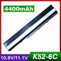 4400 mah batería del ordenador portátil para asus a42jr a42jv a42qr a52 a52f a52j A52JB A52JC A52JK A52JR A52JT A62 B53 B53E B53F B53J B53JC B53S