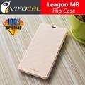 Leagoo M8 Case с крышкой батареи 100% Оригинал Официальный Премиум Кожа Флип Задняя Крышка Case Для Leagoo M8 Мобильный Телефон