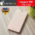 Leagoo m8 case com tampa da bateria 100% original oficial aleta de couro de luxo tampa traseira case para leagoo telefone celular m8