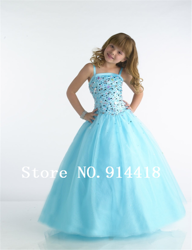 Wholesale Sequins Bodice Children Party Dresses Ankle length Tulle ...