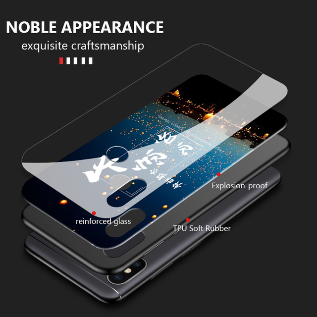 GKK Case for Xiaomi Redmi Note 5 Global Case Back Glass Soft TPU Silicone Full Protection for Redmi note 5 pro Cover Fundas