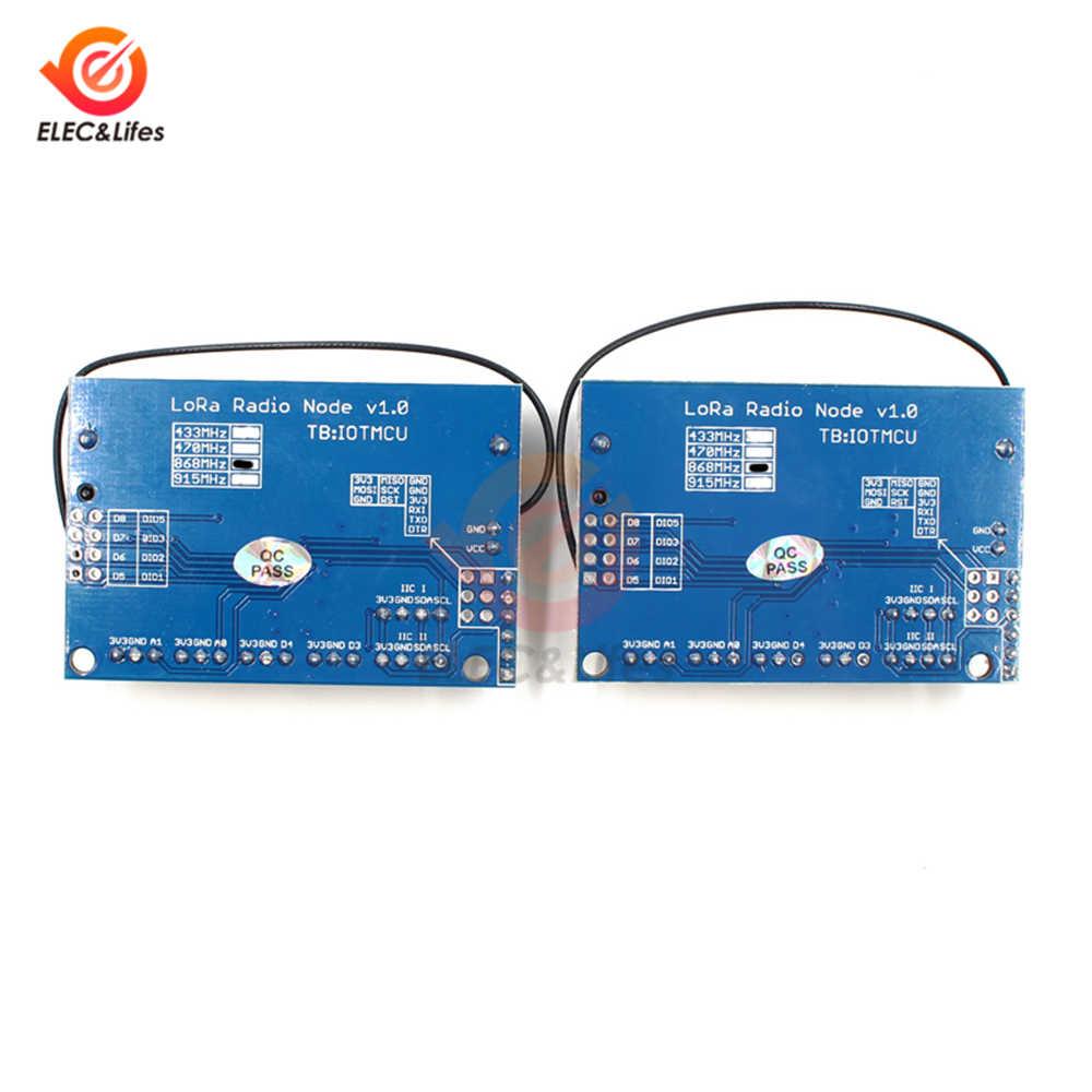 868 ميجاهرتز لورا RFM95 SX1276 راديو عقدة V1.0 IOT لورا وحدة القائمة RFM95 راديو وحدة IPEX هوائي لاردوينو ATmega328P برو مصغر