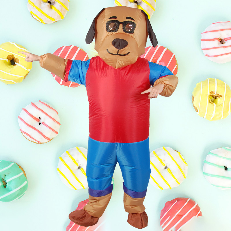 New Design Dog Cartoon Inflatable Costume Adult Animal Cosplay Clothing Party Funny Props for Halloween Blow Up Costume-in Holidays Costumes from Novelty & Special Use    2