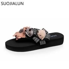 SUOJIALUN Women Shoes Slippers Fashion Designer Summer Flip Flops Cute Bear Female Beach Ladies Slides