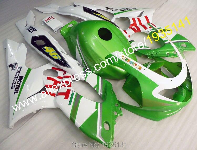 Offres spéciales, kit carrosserie carénage ABS blanc vert pour Yamaha YZF600R Thundercat 1997-2007 YZF 600R 97 ~ 07 pièces moto Yzf 600 R