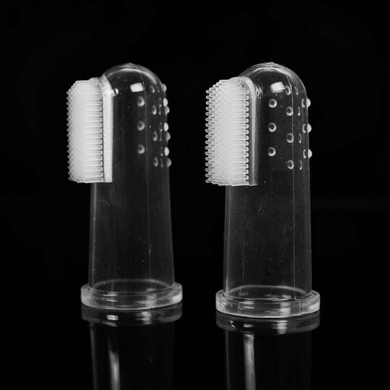 ซิลิกาเจล Super Soft Pet แปรงสีฟันทำความสะอาดอุปกรณ์ตุ๊กตาสุนัขแปรง Bad Breath Tartar เครื่องมือฟัน