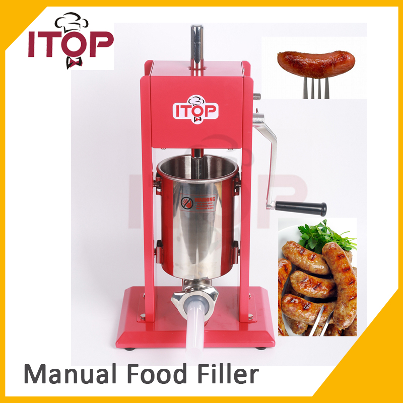 ITOP 3L Sausage Stuffer Filler Meat Maker Machine Stainless Steel Two Speed New Red цены