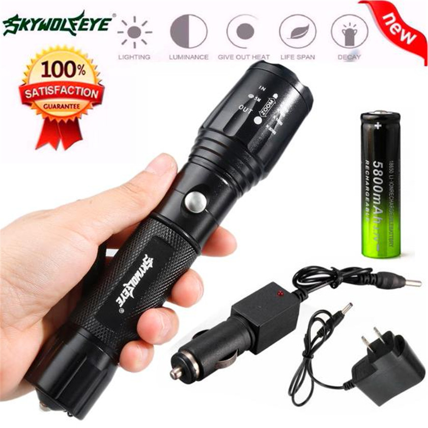 High Quality X800 Zoomable XML T6 LED Tactical Police Flashlight+18650 Battery+Charger+Case sitemap 50 xml