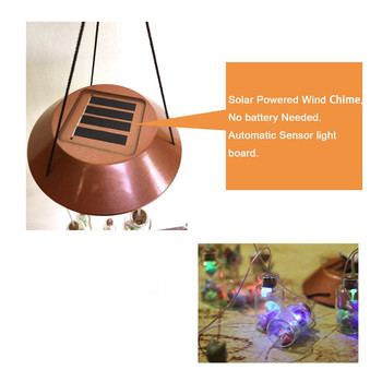LED Color-Changing Wind Chime Solar Light 5