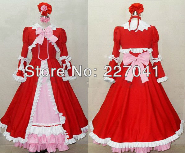 Black butler Elizabeth Midford costume cosplay Custom Made Free Shipping
