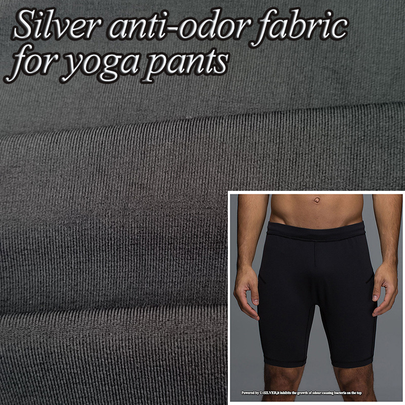 Silver Anti Bacterial 4 Way Stretch Fabirc For Yoga Pants