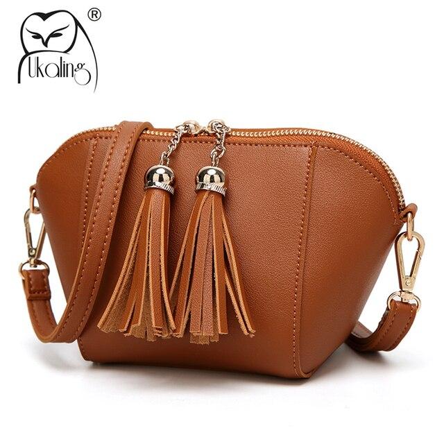 5c16fcf3260d UKQLING Mini Casual Women Messenger Bags Flap Shell Pattern Crossbody Bag  Clutch Purse Women Mobile Phone Bags Female Handbags