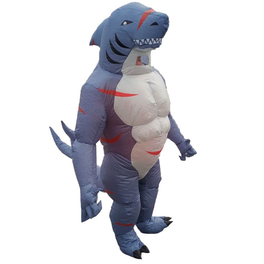Inflatable Shark Costume for Adults Cartoon Halloween Carnival Cosplay Party Fancy Dress Men Women Birthday Blow Up Outfits