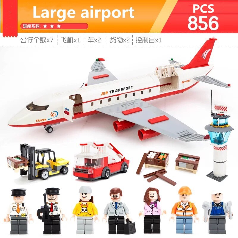 Gudi 856Pcs educational brick toy city airbus large passenger aircraft aircraft seat compatible with Lego building blocks toys gudi city passenger plane airplane blocks 856pcs bricks building blocks sets educational toys for children