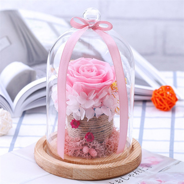 Pink Rose Eternal Flowers Dried Flowers Preserved Fresh Flower Live