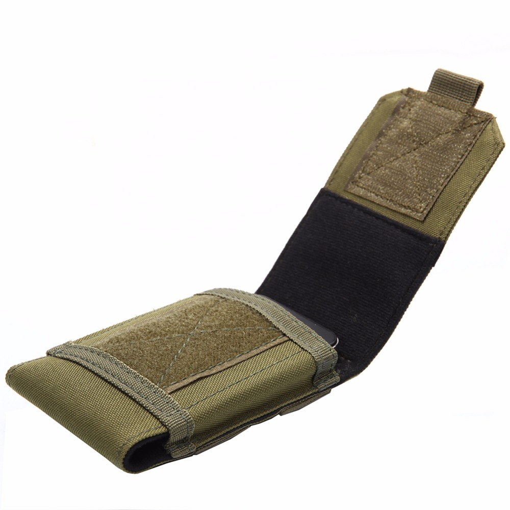<font><b>4.5</b></font>-5.3 <font><b>inches</b></font> Tactical Holster MOLLE Army Camo Camouflage Bag Hook Loop Belt Pouch Holster <font><b>Cover</b></font> Case For The Mobile Phone Case image