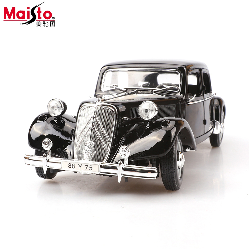 Maisto 1952 Citroen 15cv 6 Cyl 1:18 Scale Car Model Alloy Toys Diecasts & Toy Vehicles High Quality  Collection Gift maisto 1959 cadillac eldorado biarritz 1 18 scale alloy model metal diecast car toys high quality collection kids toys gift