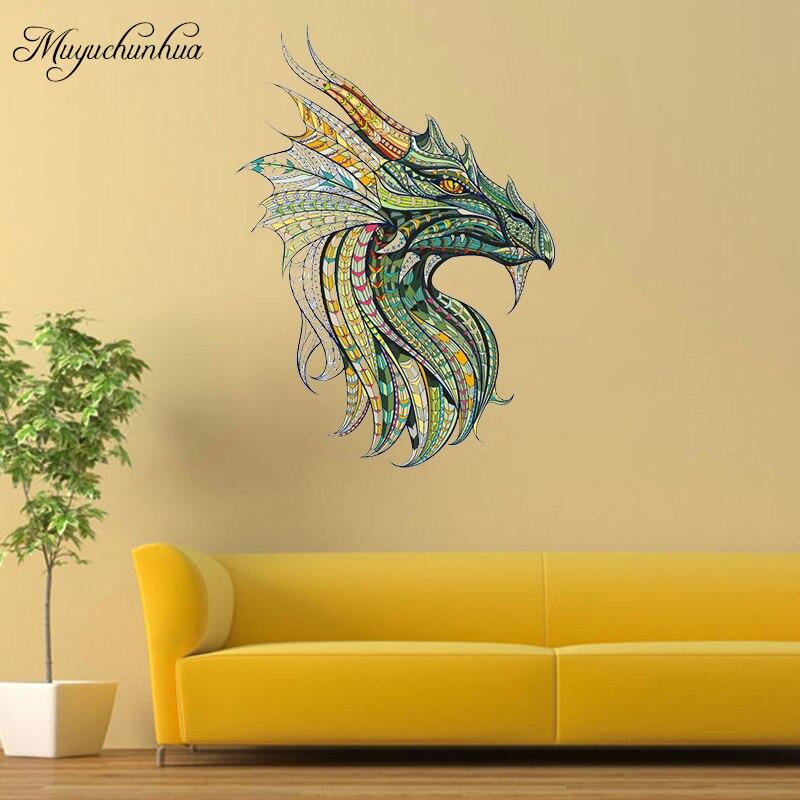 Muyuchunhua DIY Decor Dragon King Wall Sticker Family Decal for ...