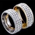 Австрийский хрусталь стразы свадебный обручальное кольцо ювелирные изделия нержавеющей стали 83722