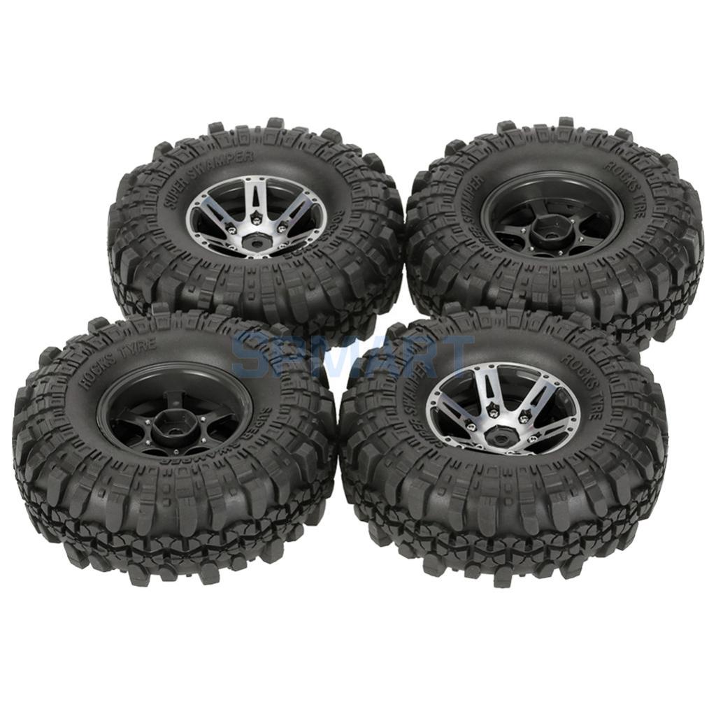 4 Tyres 1.9'' Rock Crawler Tire for AXAIL SCX10 90046 CC01 RC4WD D90 D110 Traxxas Parts 1:10 RC Car Tyres 4pcs rc crawler 1 10 wheel rims beadlock alloy 1 9 metal rims rock crawler wheel hub parts for rc car traxxas rc4wd scx10 cc01