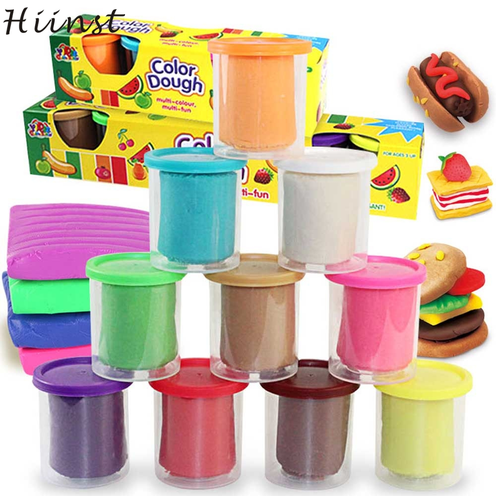 HIINST 10pcs DIY Slime Malleable Polymer Soft Clay Blocks Plasticine Stress Relief Toys JAN15 P30 drop SHIPPING