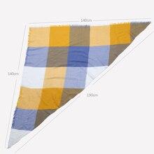 Plaid Cashmere Wrap Shawl/ Scarf
