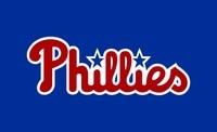 Philadelphia Phillies Blue Fan Flag 3X5FT 90x150cm 100 Polyester Free Shipping MLB Banner